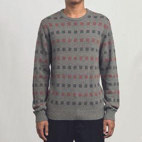 Sweater Hombre Mini Jacquard Crew