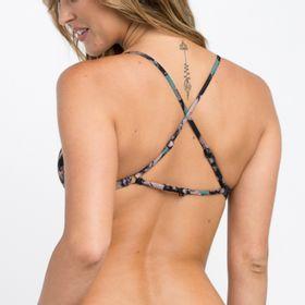 Bikini Sostén Mujer Camo Floral Crossbac