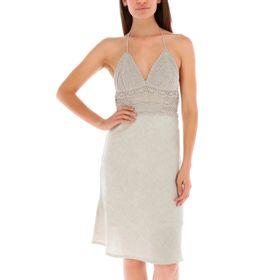 Vestido de Lino Mujer Eucaliptu