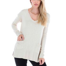Sweater con Cashmere y Viscosa Mujer Pocket