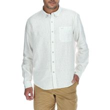 Camisa Hombre Linen Flowers