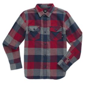 Camisa de niño Box Flannel Boys Rhumba Red-Dress Blues