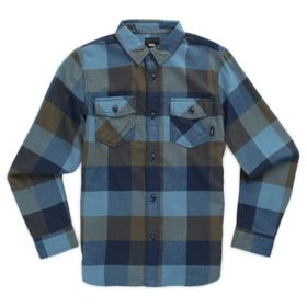 Camisa de niño Box Flannel Boys Grape Leaf-Bluestone