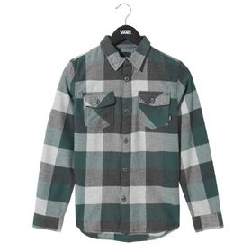Camisa manga corta Youth By Box Flannel Boys (5 a 12 años) Vans Trekking Green-Grey Heather