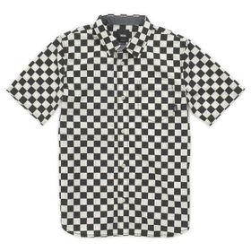 Camisa Cypress Checker Boys Youth (5 a 12 años) Black-Whitecaps