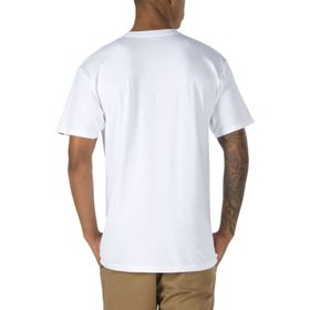Polera Left Chest Logo Tee White-Black