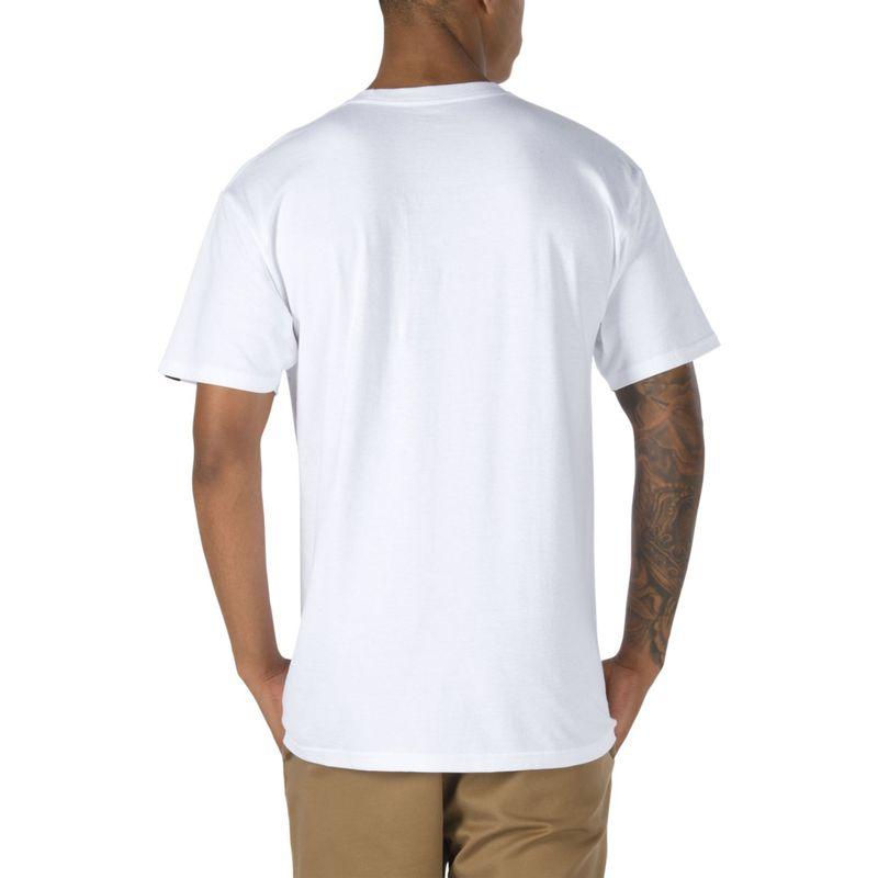 Polera-Left-Chest-Logo-Tee-White-Black