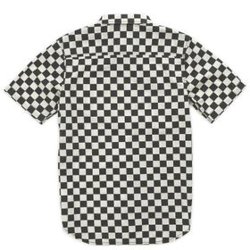 Camisa Cypress Checker Boys Youth (5 a 12 años) Black-Whitecaps