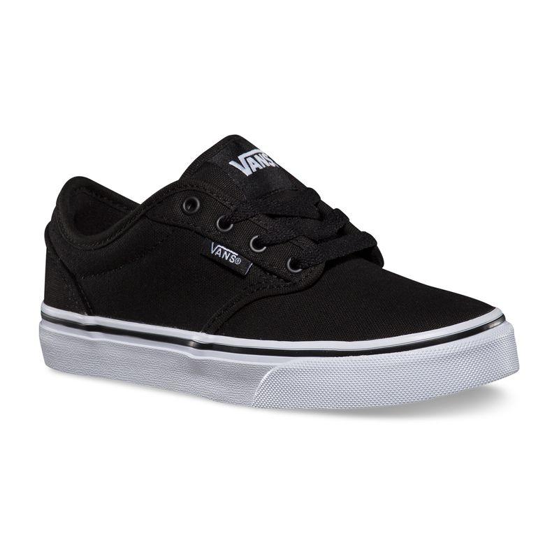 Zapatillas-Niño-Atwood-Canvas-Black-White
