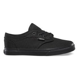 Zapatillas Atwood Low Youth (5 a 12 años) (Canvas) Black/Black