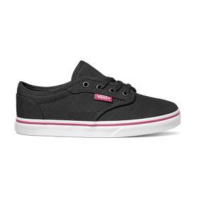 Zapatillas Atwood Low Youth (5 a 12 años) (Canvas) Black/Pink