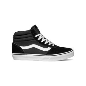 Zapatillas Maddie Hi Suede & Canvas Black/White