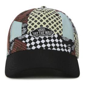 Jockey Court Side Printed Hat Floral Patchwork