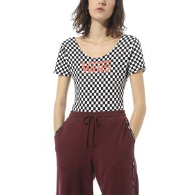 Polera Check V II Bodysuit Checkerboard-Paprika