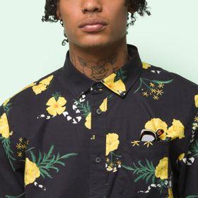 Camisa Super Bloom Floral Ss Black-Super Bloom
