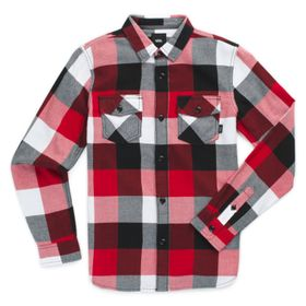 Camisa De Niños Box Flannel Chili Pepper-Black