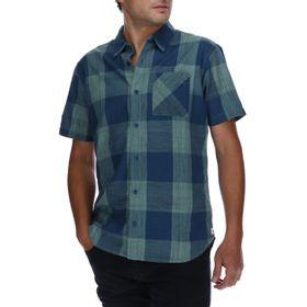 Camisa Manga Corta Hombre Foundation Large Check